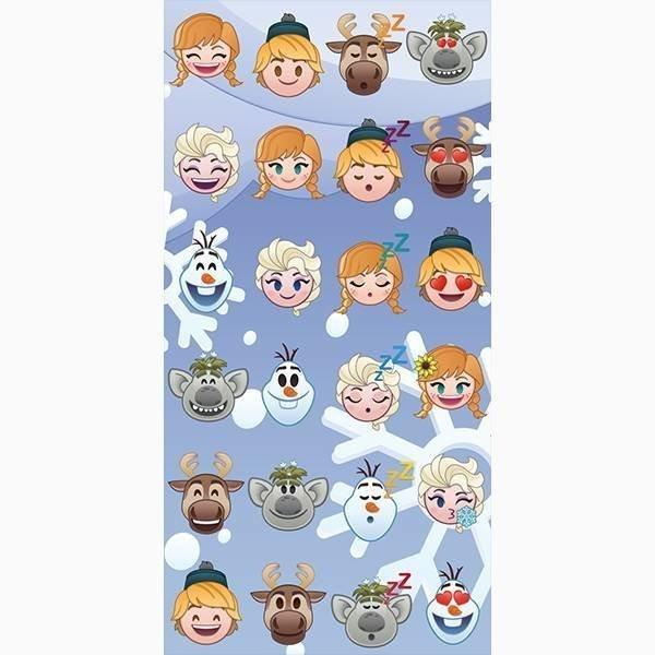 Emoji Frozen strandlaken 70x140