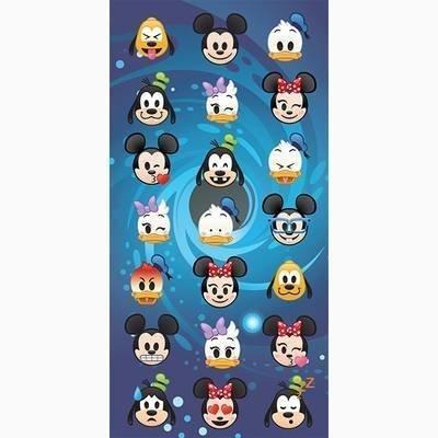 Emoji Disney strandlaken 70x140