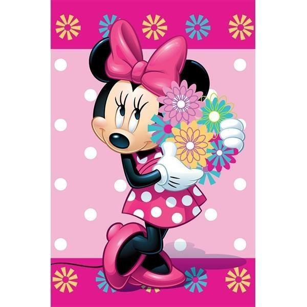 Minnie Mouse Flowers - Fleece plaid 100x150