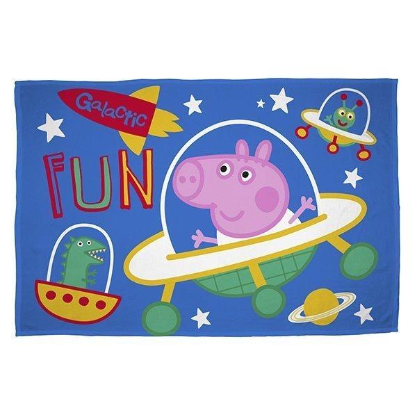 George Pig Planets - Fleece plaid 100x150