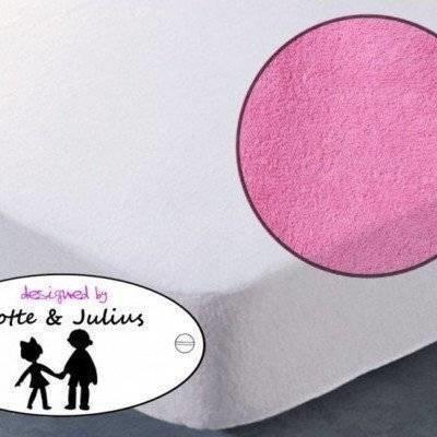 Hoeslaken 70x150 roze Badstof