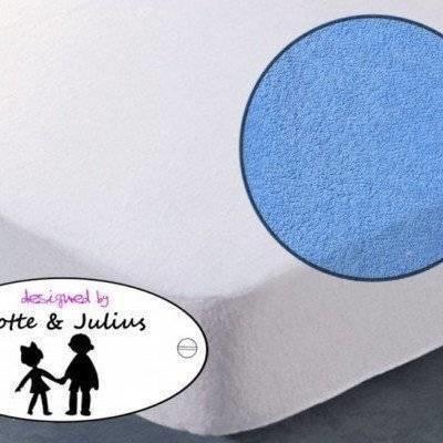 Hoeslaken 70x150 blauw Badstof