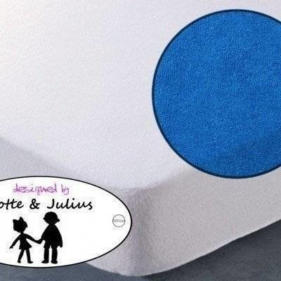 Hoeslaken 70x150 donker blauw Badstof