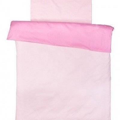Peuter dekbedovertrek licht roze/roze 120x150