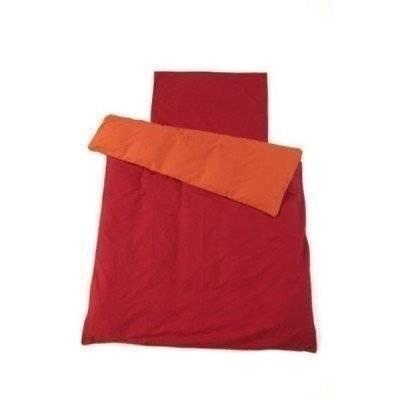 Peuter dekbedovertrek oranje/rood 120x150