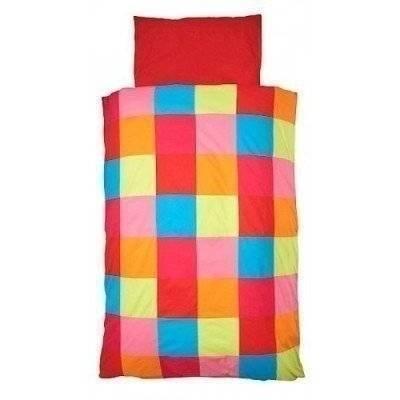 Check colourful peuter dekbedovertrek 120x150
