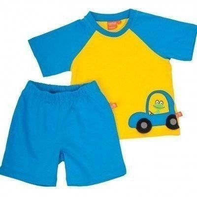 Peuterpyjama blue/yellow car