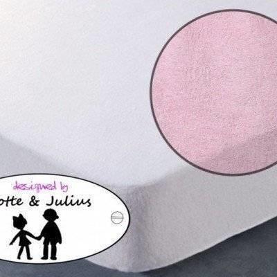Hoeslaken 70x150 licht roze Badstof