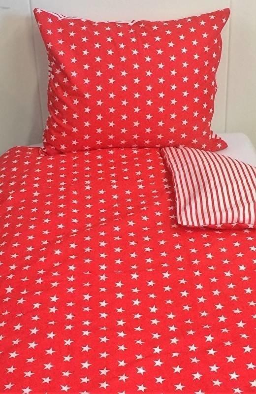 Ster dekbedovertrek rood wit 120×150   PeuterDekbedSjop nl