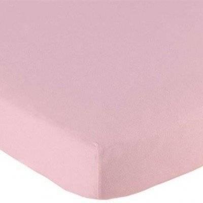 Hoeslaken 70x150 roze Katoen