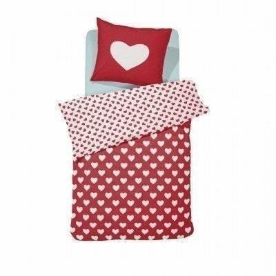 Hearts peuter dekbedovertrek 120x150 red