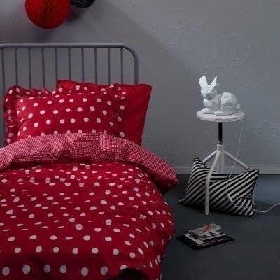 Dotty Spotty peuter dekbedovertrek 120x150 red