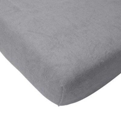 Hoeslaken 75x150 licht grijs badstof