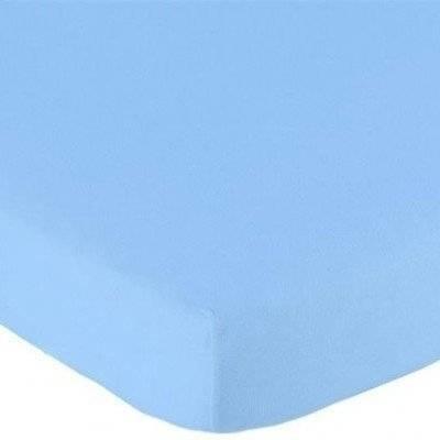 Hoeslaken 70x150 licht blauw Jersey