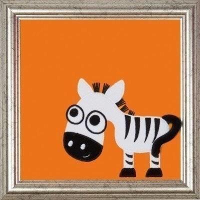 Wooden frame Zebra