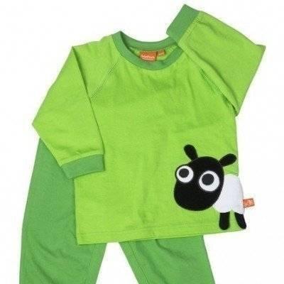 Peuterpyjama groen schaap