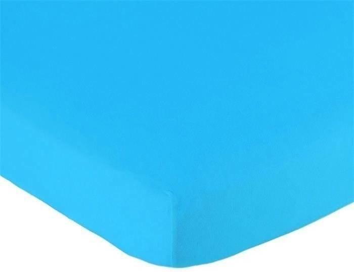 Hoeslaken 70x150 aqua Jersey