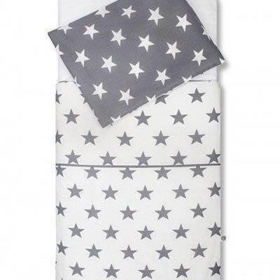 Little star peuter dekbedovertrek 120x150 antraciet