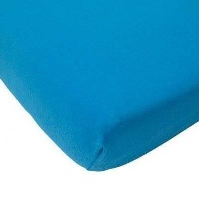 Hoeslaken 75x150 turquoise katoen