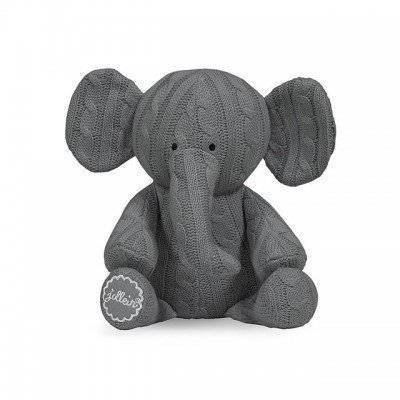 Knuffel Cable elephant grijs