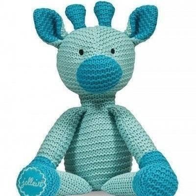 Knuffel Chunky knit giraffe jade