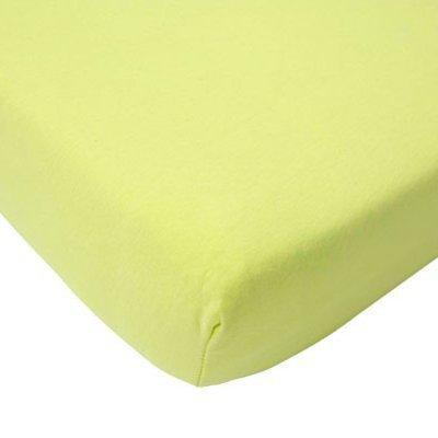 Hoeslaken 75x150 soft lime jersey
