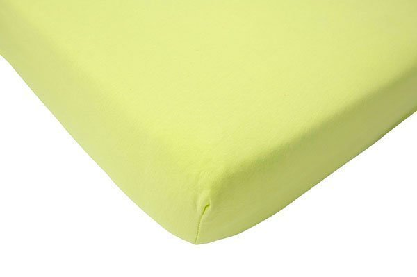 Hoeslaken 75x150 soft lime jersey