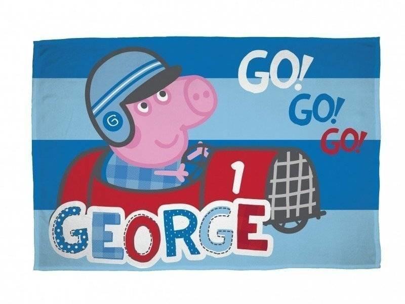 Peppa Pig George Speed - Fleece plaid 100x150