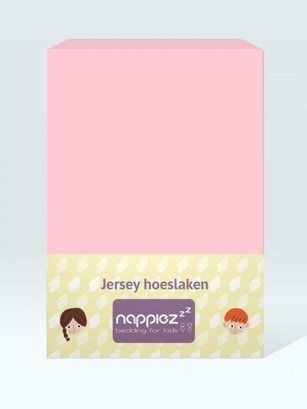 Jersey hoeslaken 70x150 roze - Nappiez
