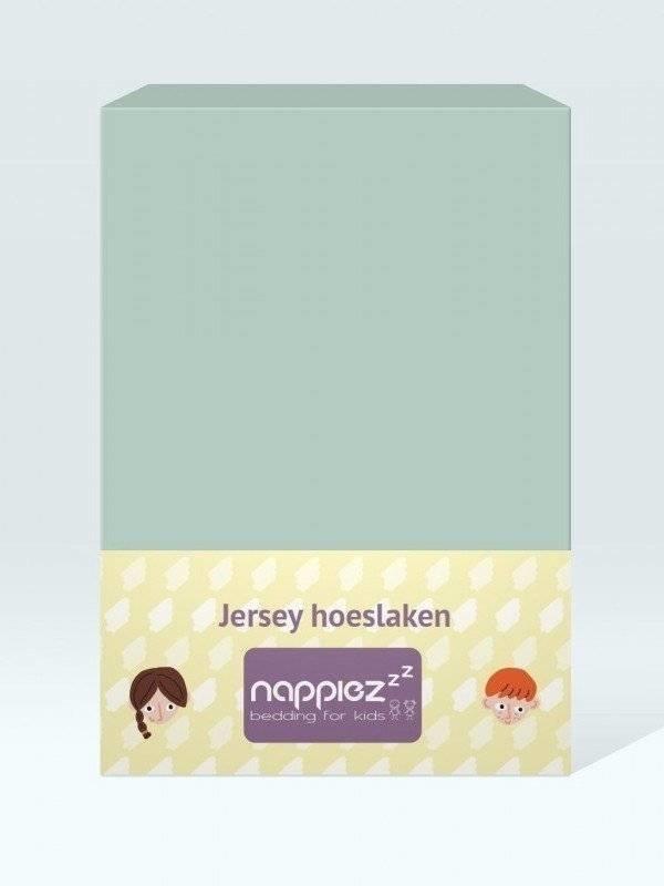 Jersey hoeslaken 70x150 jade - Nappiez