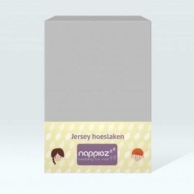 Jersey hoeslaken 70x150 licht grijs - Nappiez
