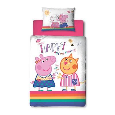 Peppa Pig peuter dekbedovertrek 120x150 Hooray