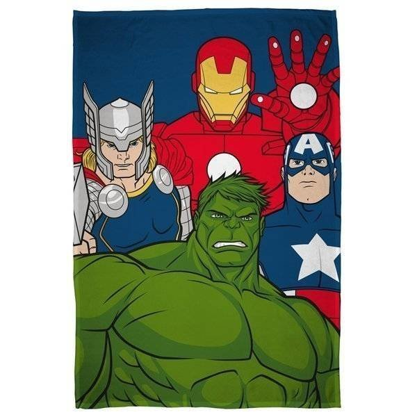 Avengers Mission - Fleece plaid 100x150
