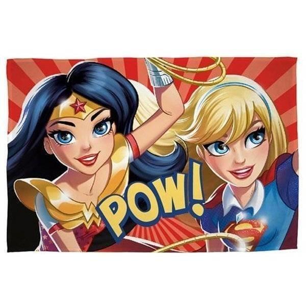 DC Super Hero Girls - Fleece plaid 100x150