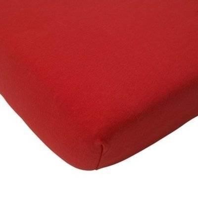 Hoeslaken 75x150 rood - Double Jersey