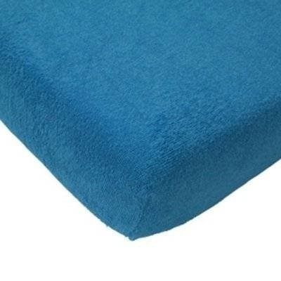Hoeslaken 75x150 turquoise badstof
