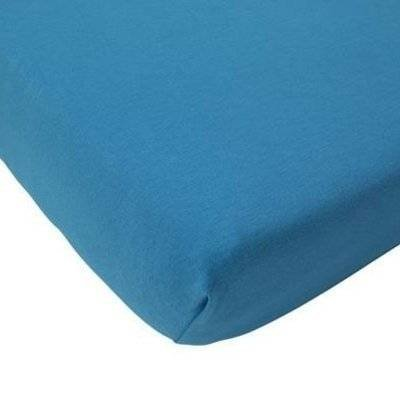 Hoeslaken 75x150 turquoise - Organic Jersey