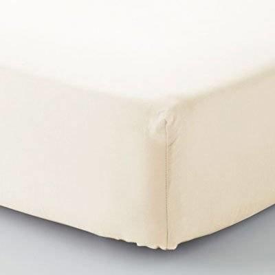 Hoeslaken 75x150 ecru - Double Jersey