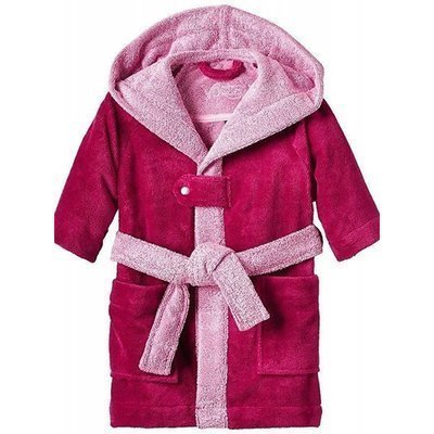 Bixie kinderbadjas Cranberry - Maat 92/98