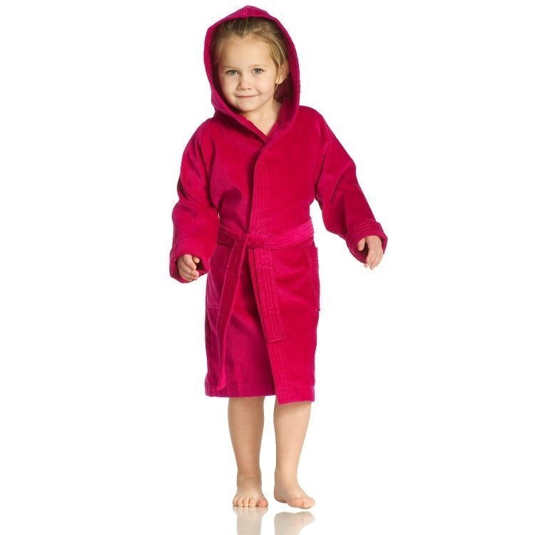 Texie kinderbadjas Cranberry - Maat 104/110