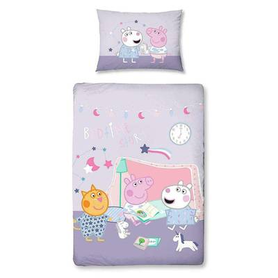 Peppa Pig peuterdekbedovertrek 120x150 Sleepy