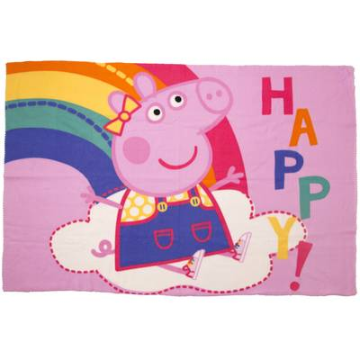 Peppa Pig - Fleece plaid 100x150 - Happy