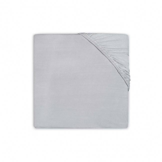 Hoeslaken katoen 75x150 soft grey