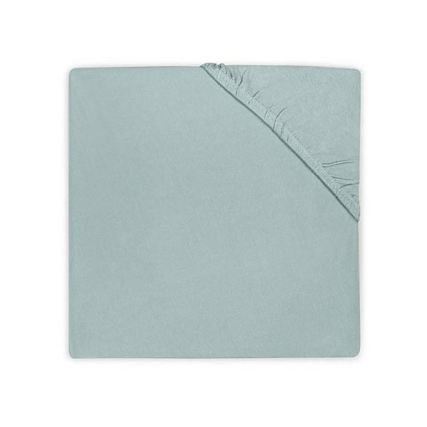 Hoeslaken 75x150 soft green katoen