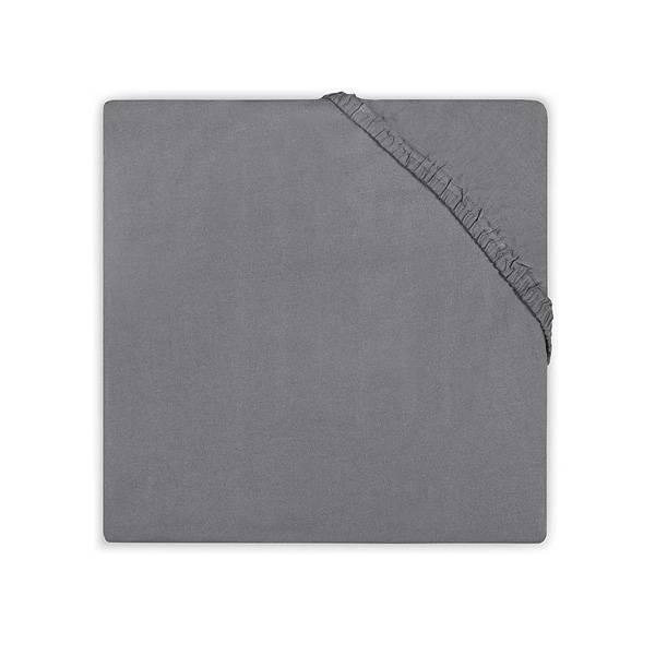 Hoeslaken 75x150 dark grey katoen