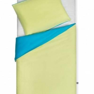 Peuter dekbedovertrek turquoise/lime 120x150 - 2e kans